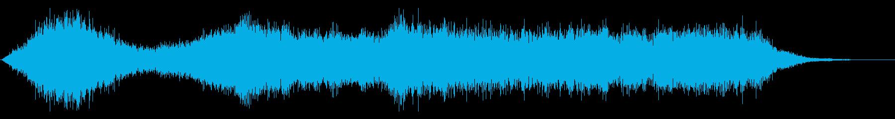 ワープ、近未来、SF的音の再生済みの波形