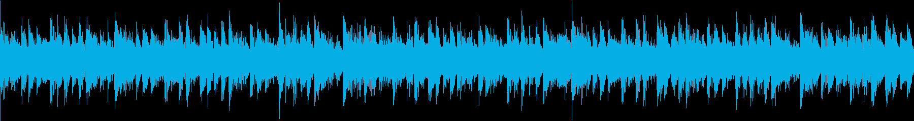 色々なBGMに使えるループサウンドの再生済みの波形