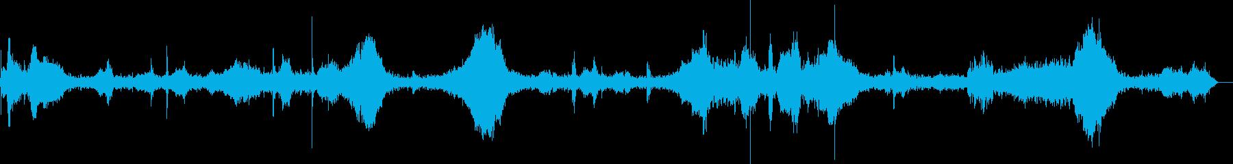 スカウトトラック:さまざまな運転操作。の再生済みの波形