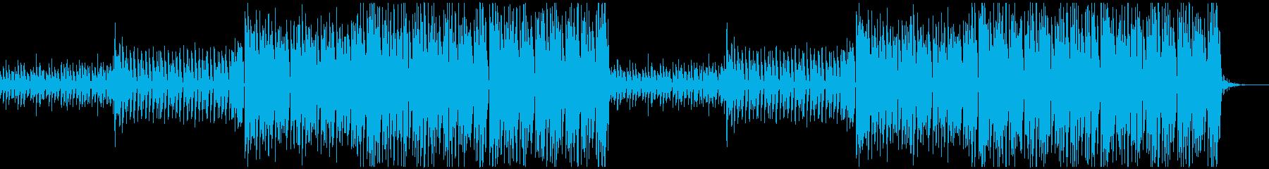 ポップで軽快なハウスミュージックの再生済みの波形