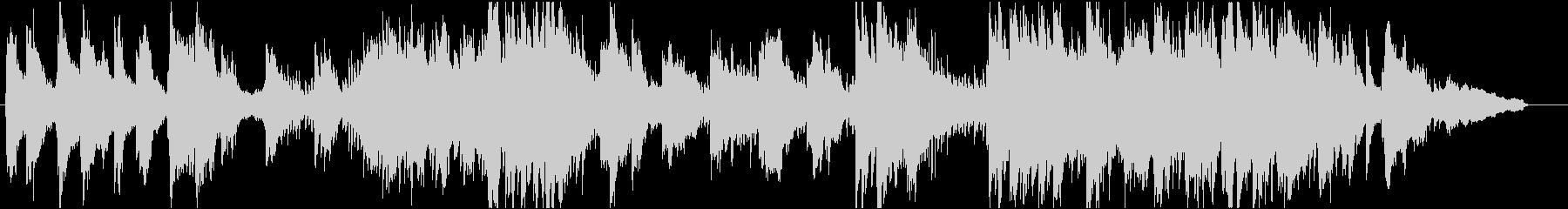 ほのぼのとしたヒーリング系ピアノBGMの未再生の波形