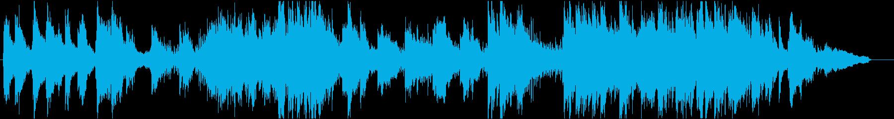 ほのぼのとしたヒーリング系ピアノBGMの再生済みの波形