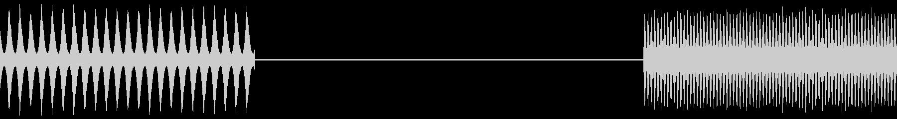 トーンビープチャタリングフラップバズの未再生の波形