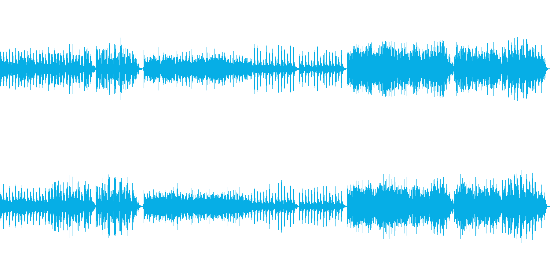 トラックのフルバージョンからステム...の再生済みの波形
