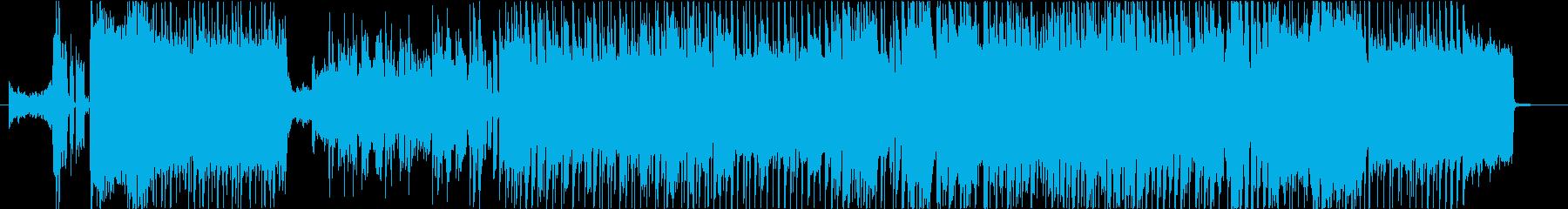 アニメ風和系オープニング曲の再生済みの波形