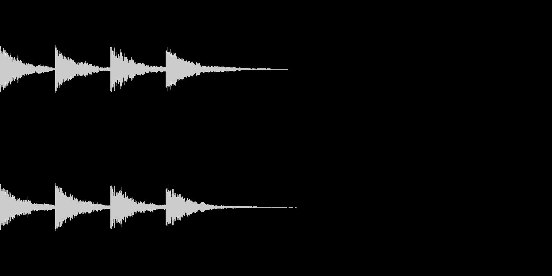 アナウンスでお知らせがある時の音〜放送後の未再生の波形