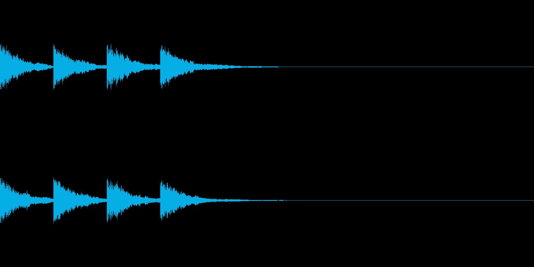 アナウンスでお知らせがある時の音〜放送後の再生済みの波形