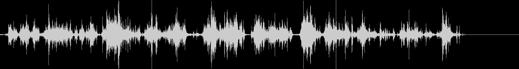 ジャラジャラ(小銭)の未再生の波形