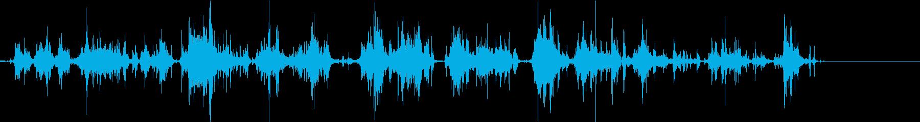 ジャラジャラ(小銭)の再生済みの波形