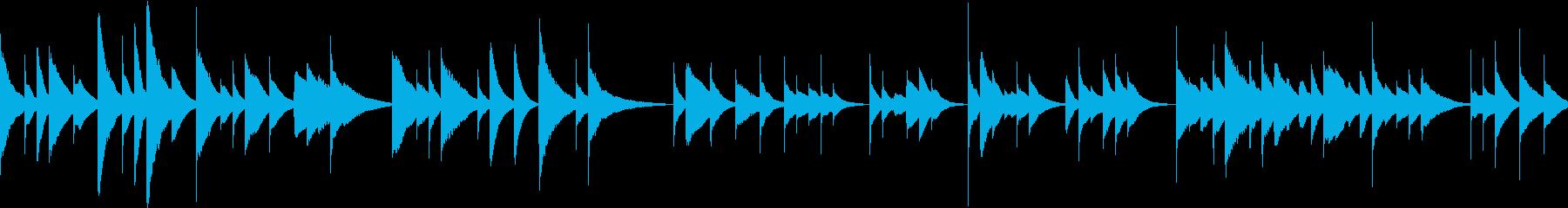 不気味かつ懐かしいオルゴールの再生済みの波形