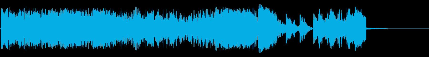 爆破の再生済みの波形