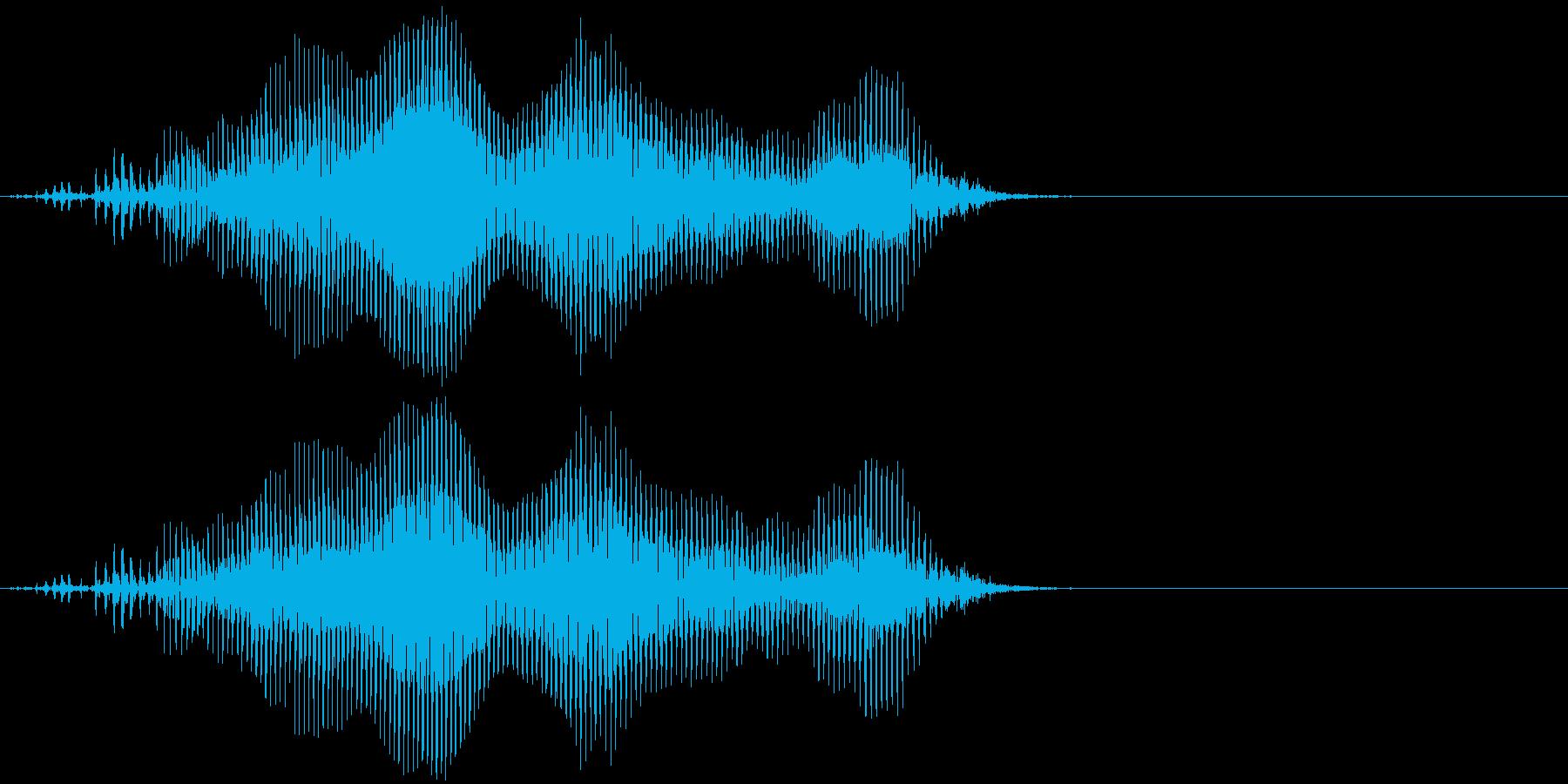 「猫の鳴き声009」ごろにゃーおver2の再生済みの波形