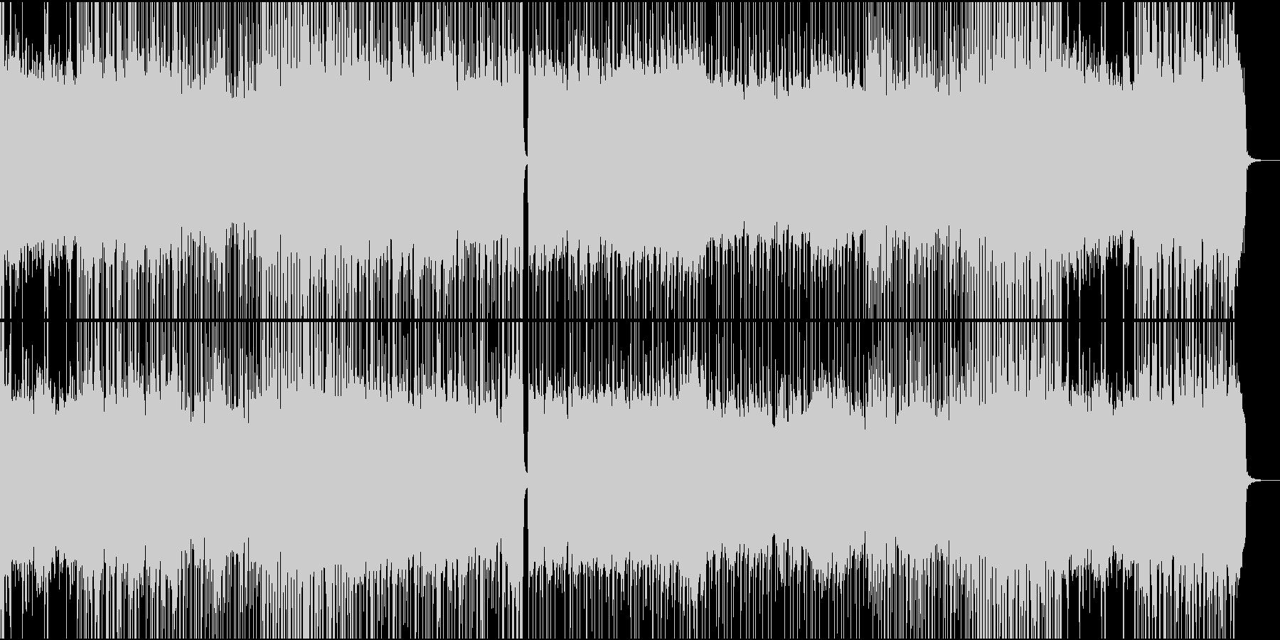 疾走感のあるHard Rockの未再生の波形