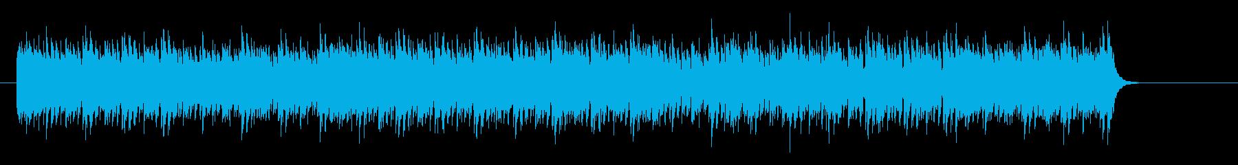 マイナー調の緊迫感漂うサイコサスペンス調の再生済みの波形