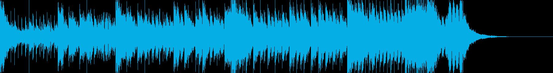 おしゃれな感じのジングルの再生済みの波形