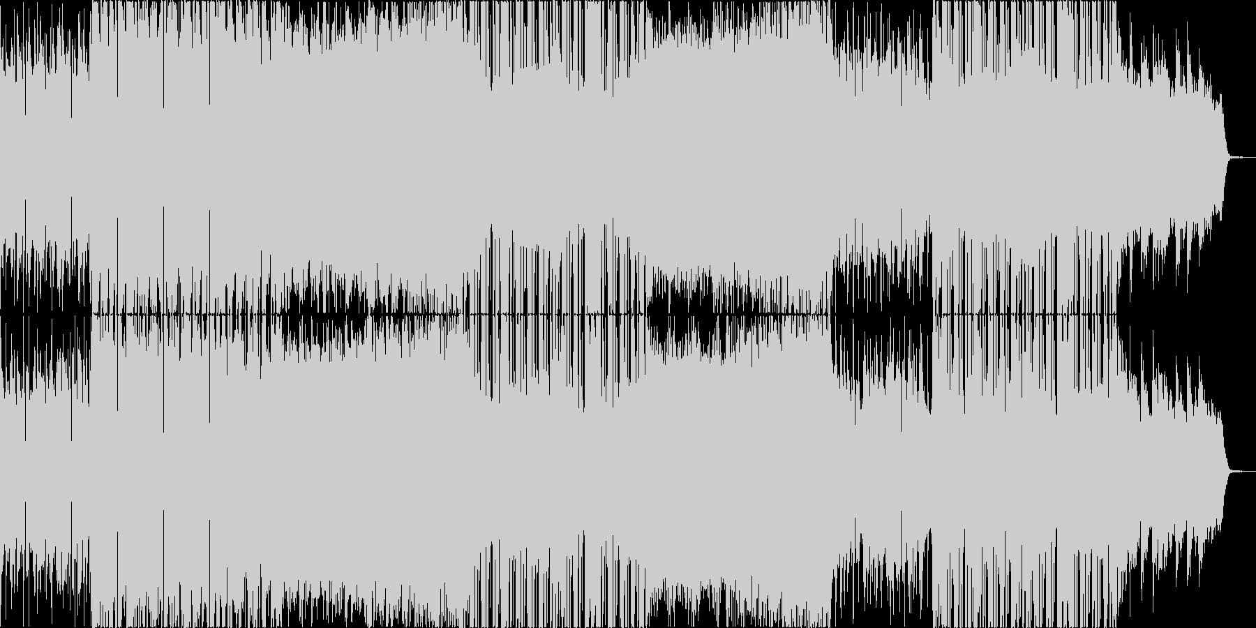 メロウなローファイヒップホップの未再生の波形