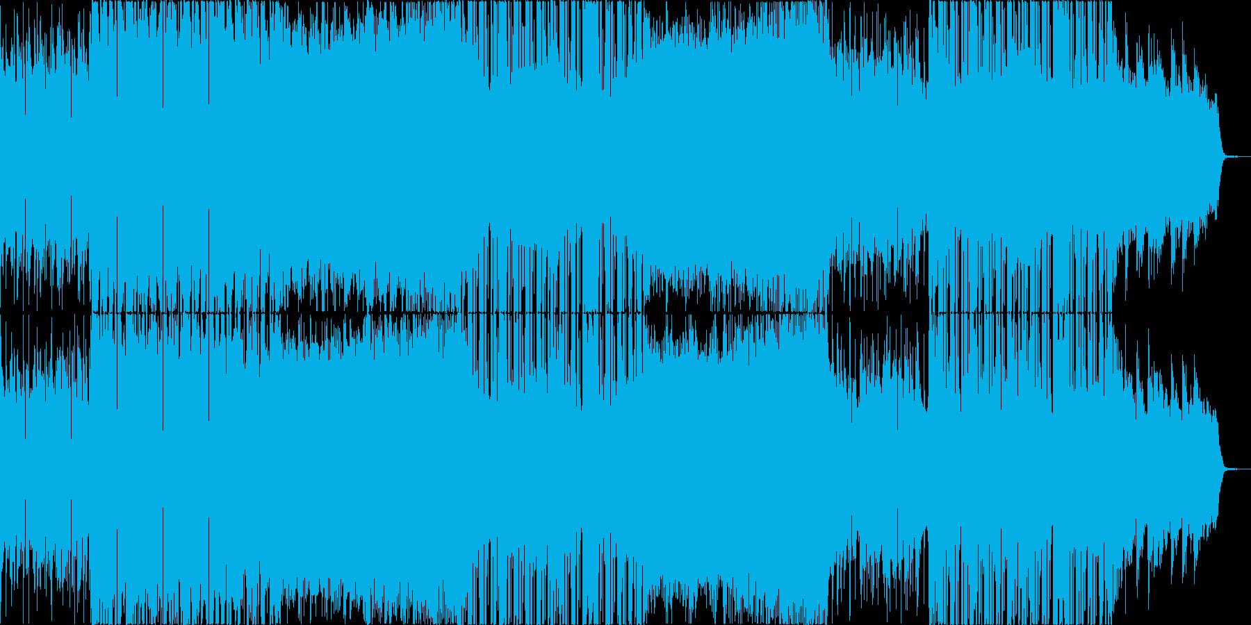 メロウなローファイヒップホップの再生済みの波形