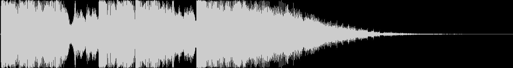 ノリのいい王道なラジオ向けジングルの未再生の波形
