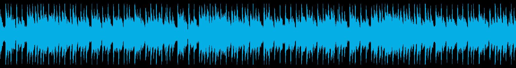 切ないピアノのリフ(ループ)の再生済みの波形