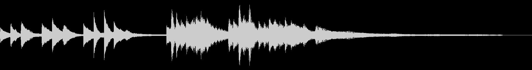 和風のジングル6-ピアノソロの未再生の波形