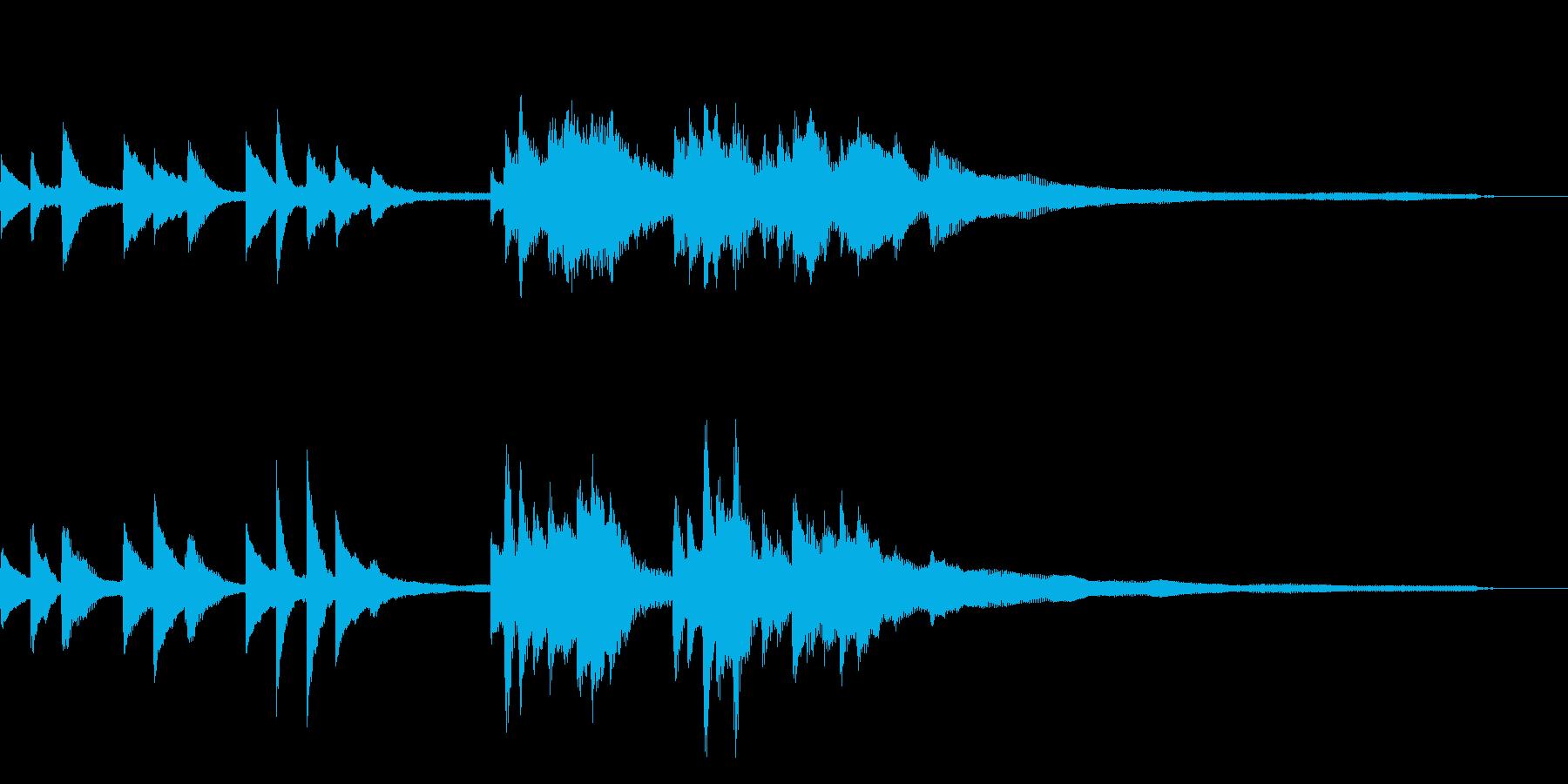 和風のジングル6-ピアノソロの再生済みの波形