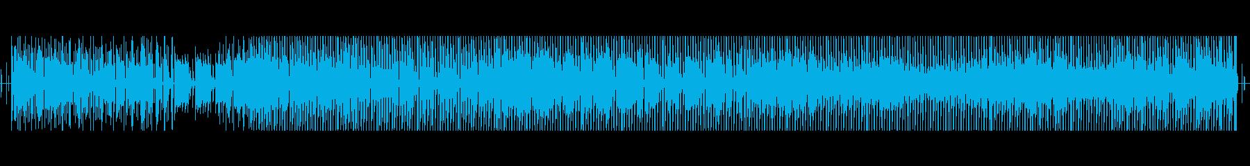 チップチューンとおもちゃのコミカルな曲の再生済みの波形