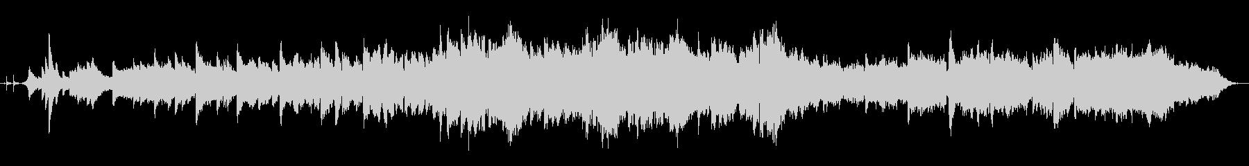 フルートとピアノの幻想的な風景BGMの未再生の波形