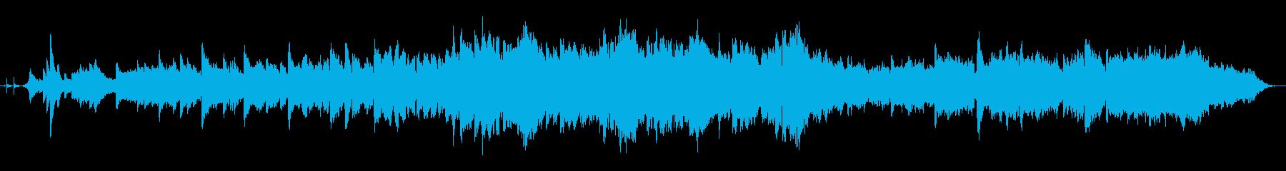 フルートとピアノの幻想的な風景BGMの再生済みの波形