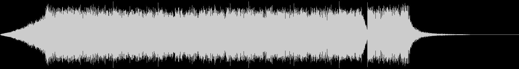 シンプルなメタル系のジングル2の未再生の波形