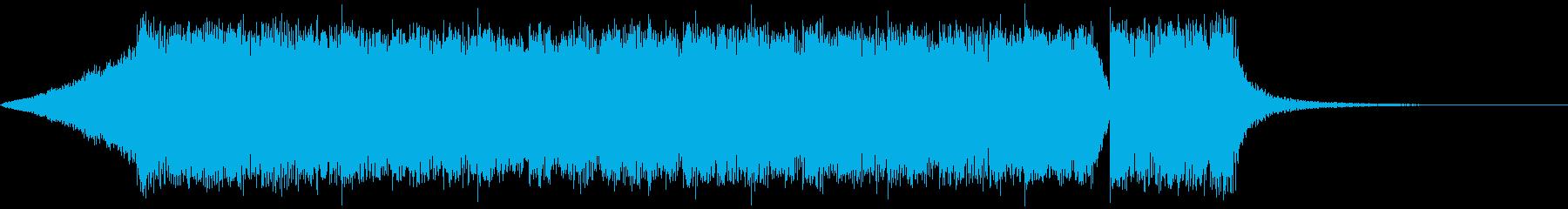 シンプルなメタル系のジングル2の再生済みの波形