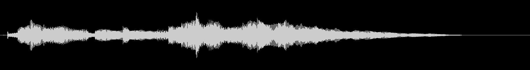 クリアーなギターのサウンドロゴの未再生の波形