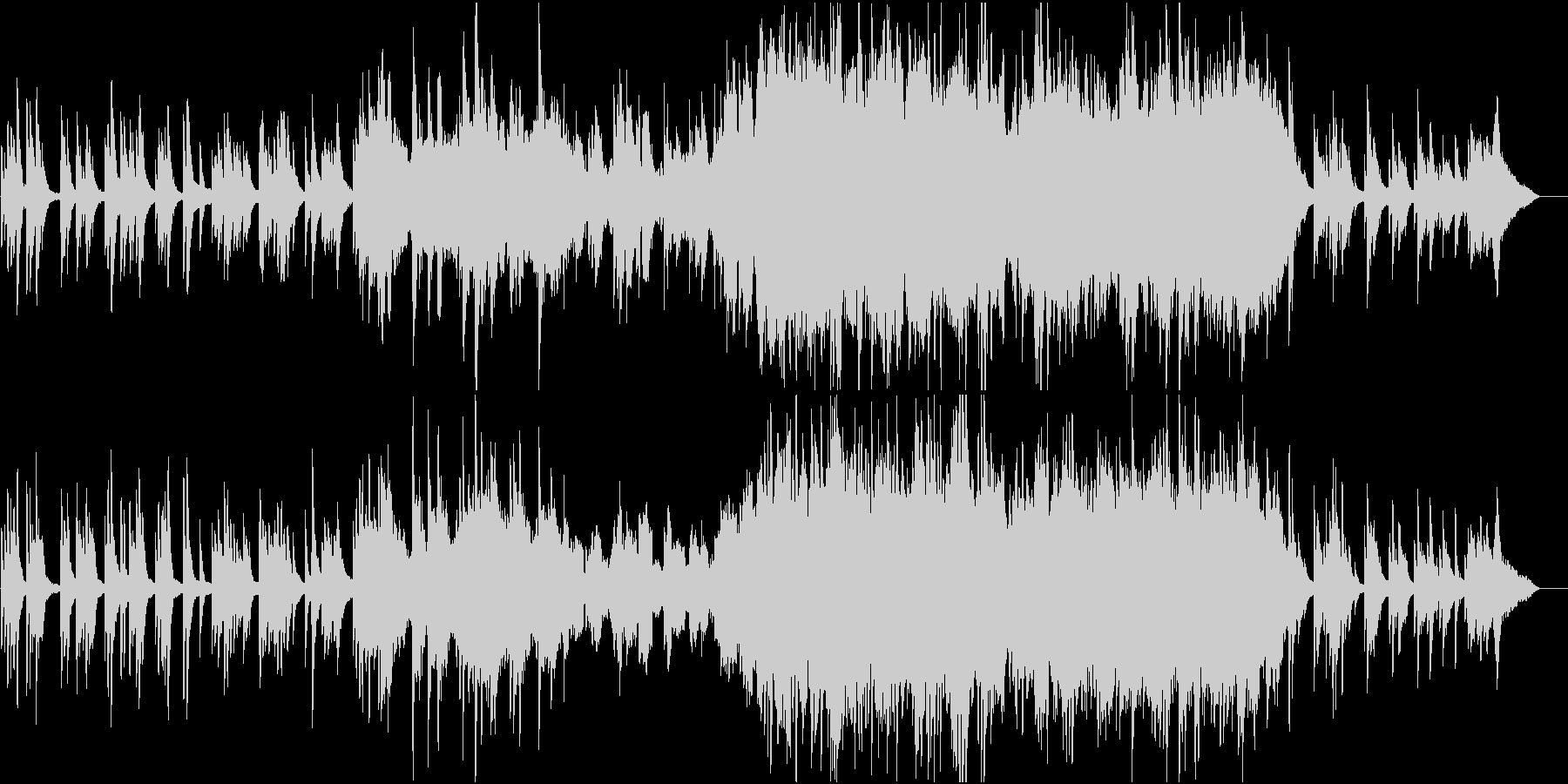 ちょっと感動的な印象になるバラード曲の未再生の波形