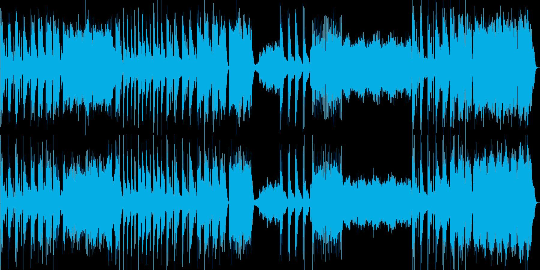 ゆったりとした神秘的なピアノ曲の再生済みの波形