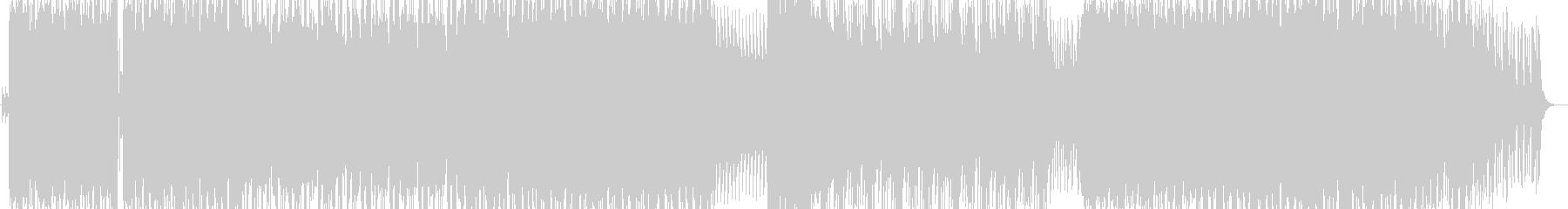 疾走感溢れる激しいロックサウンドの未再生の波形