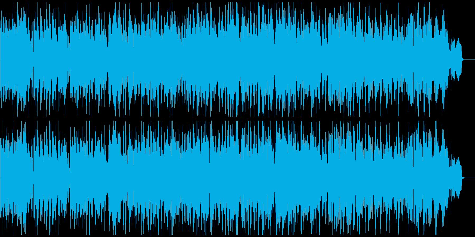 ウキウキする軽快なスイング感のジャズの再生済みの波形
