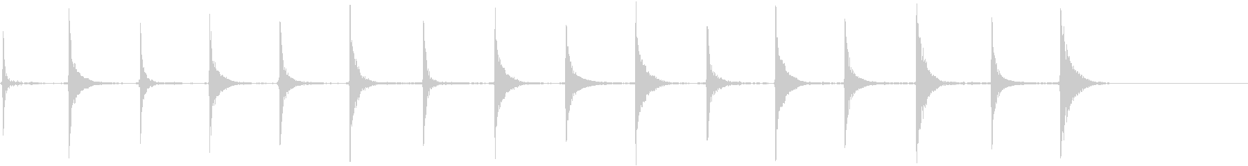 エレクトリックベース:クロックティ...の未再生の波形