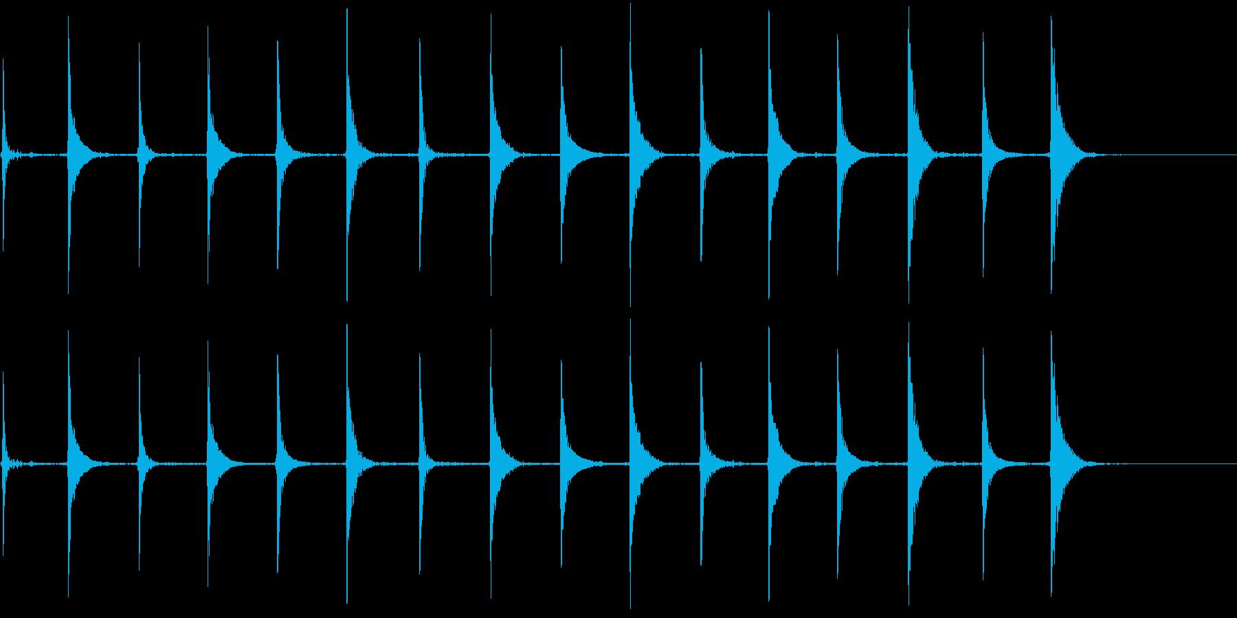 エレクトリックベース:クロックティ...の再生済みの波形
