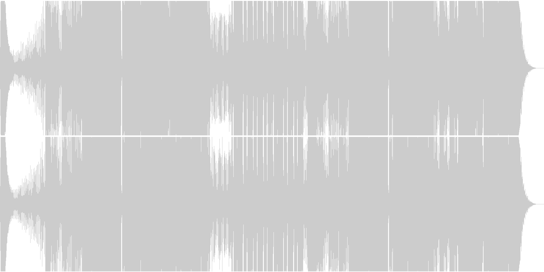 チョップドヴォイスが切ないEDMの未再生の波形