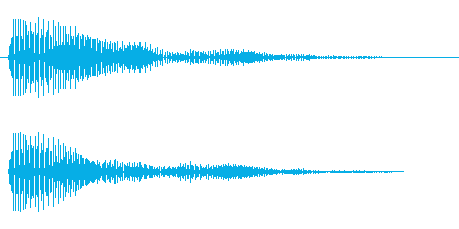 ポン(短いやや明るい音)の再生済みの波形