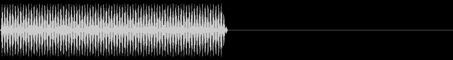 『ピッ』電話のプッシュ音(D)-単音の未再生の波形