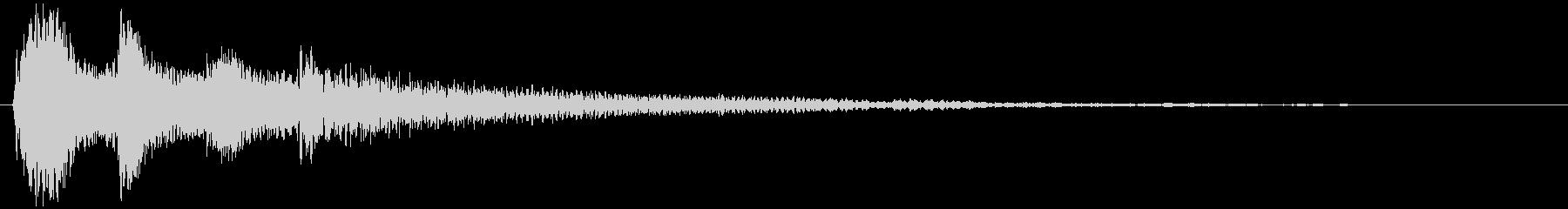 さりげない ピアノのサウンドロゴの未再生の波形