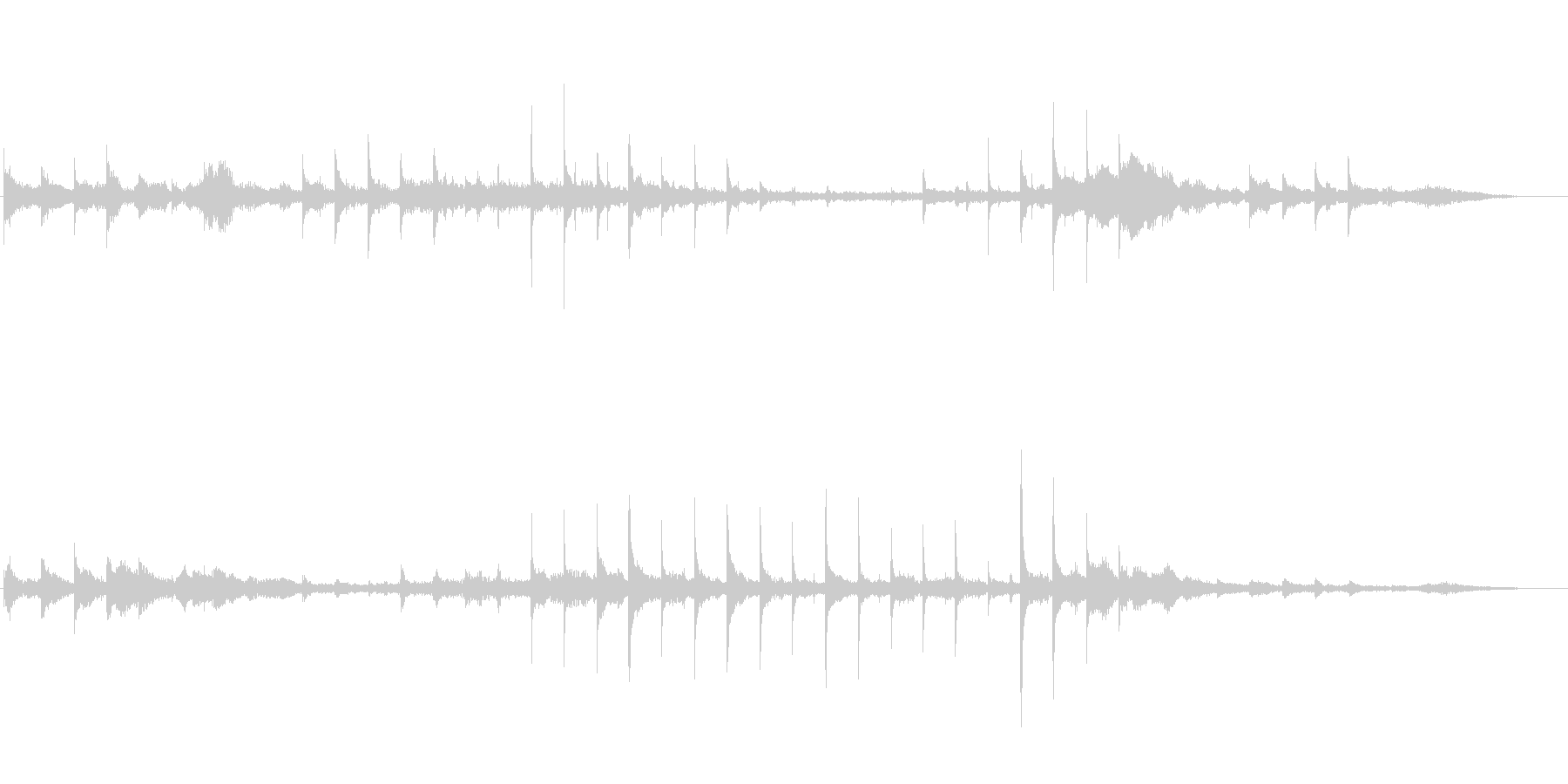 「漂う」テーマのアイキャッチ音の未再生の波形