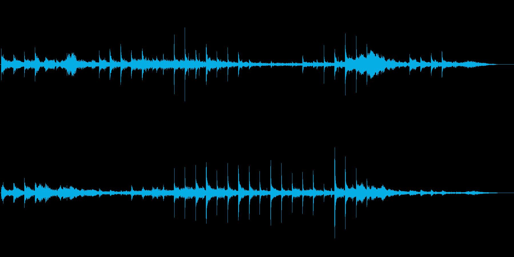 「漂う」テーマのアイキャッチ音の再生済みの波形