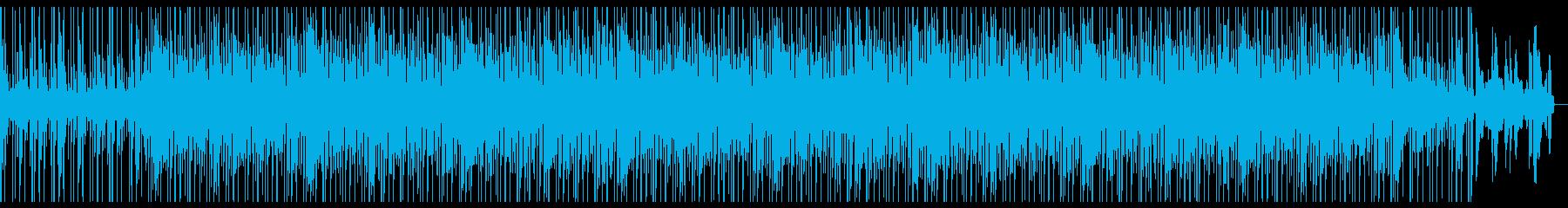 生演奏の爽やか系BGMの再生済みの波形