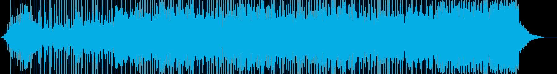 飛行機に乗っているイメージの旅行ソングの再生済みの波形