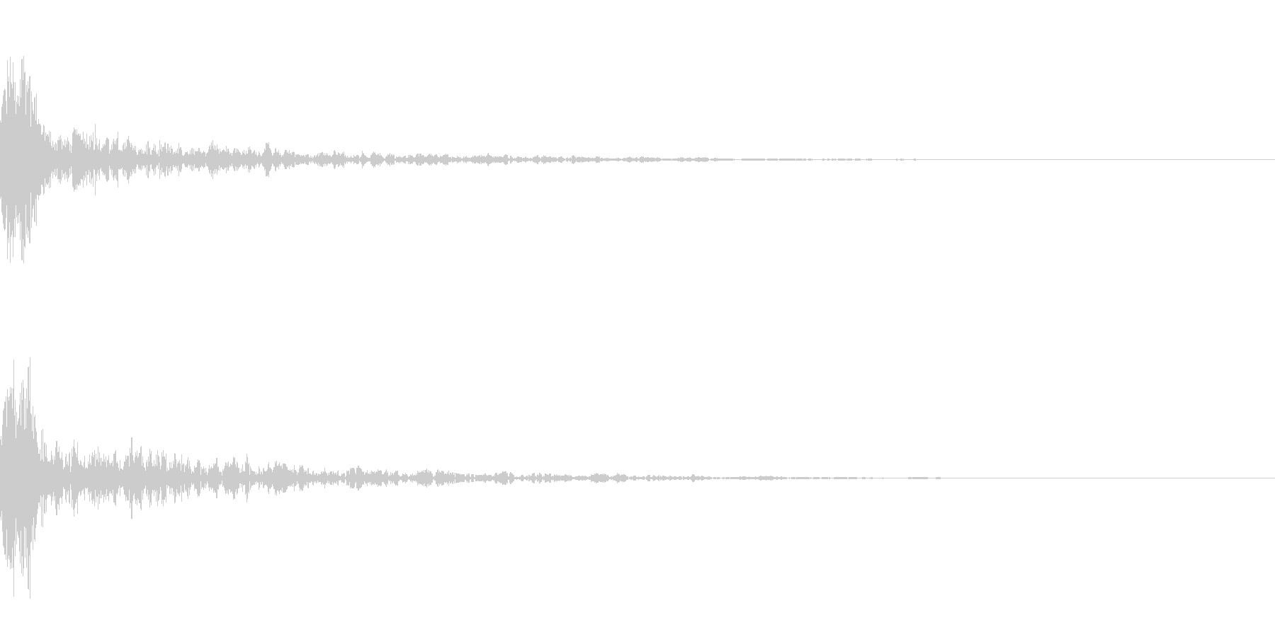 ドーン-20-1(インパクト音)の未再生の波形