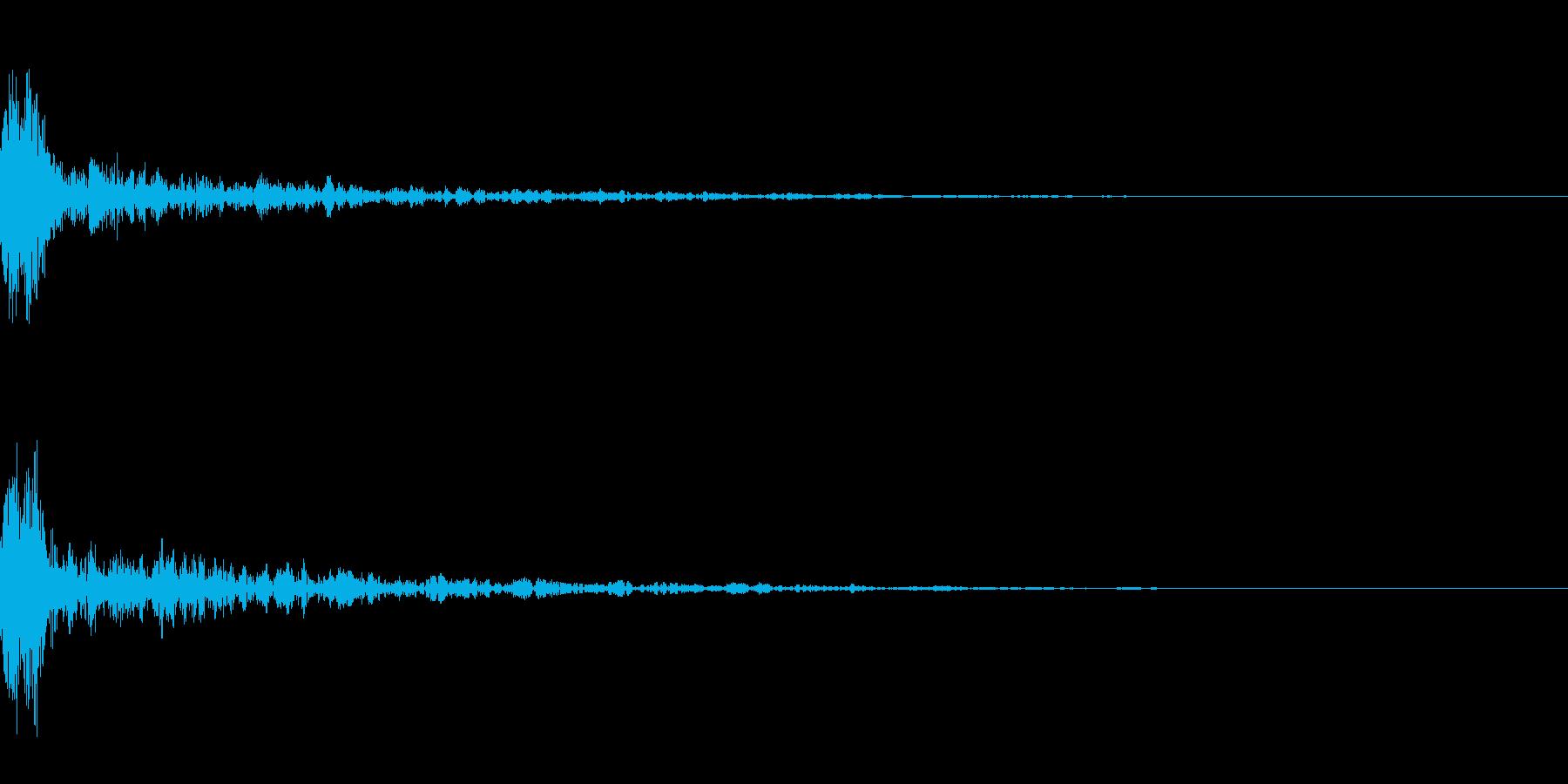 ドーン-20-1(インパクト音)の再生済みの波形