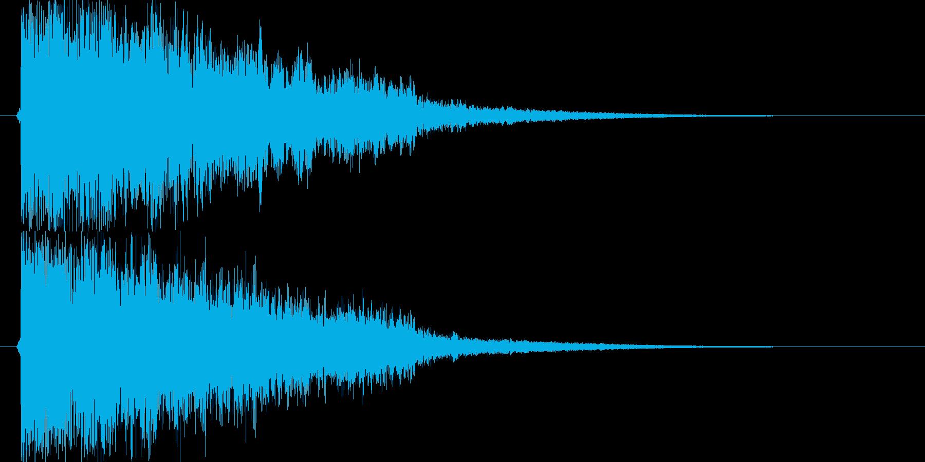 ガキーン 派手な金属音1の再生済みの波形