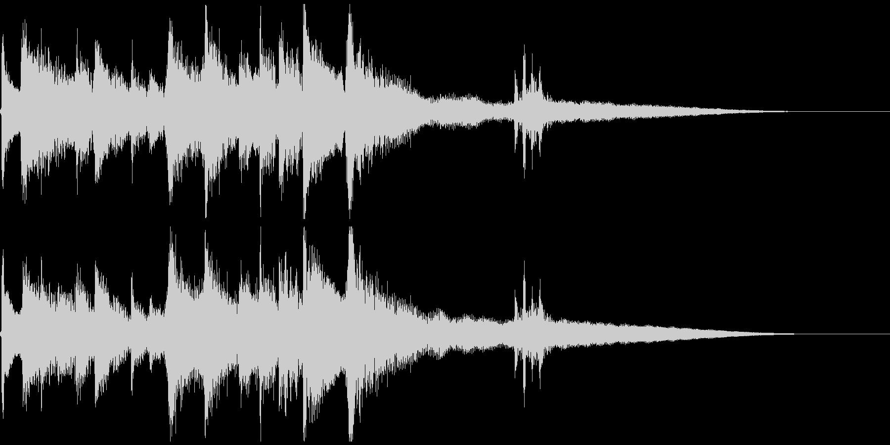 ほのぼのとしたアコギの場面転換ジングルの未再生の波形