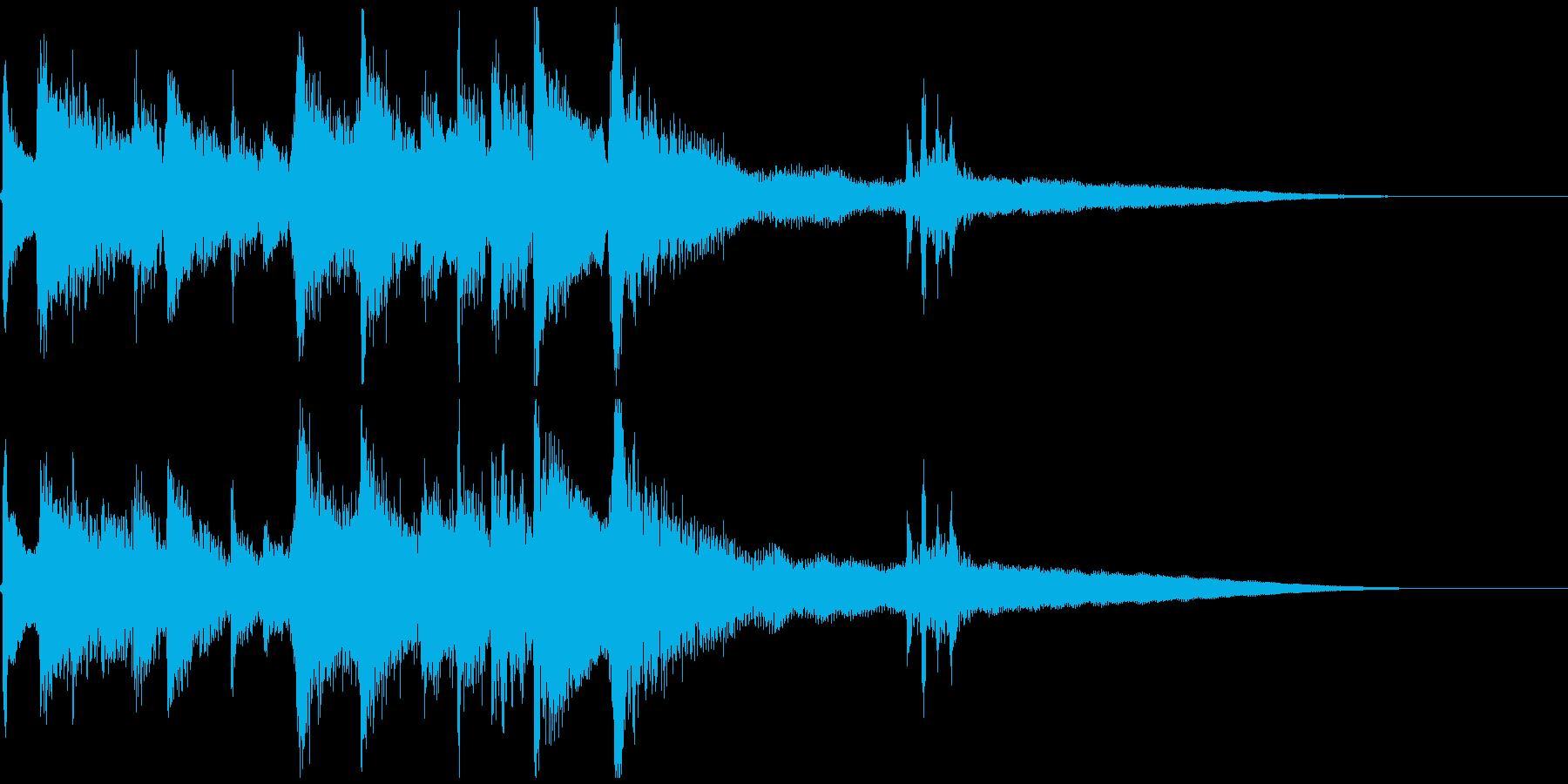 ほのぼのとしたアコギの場面転換ジングルの再生済みの波形